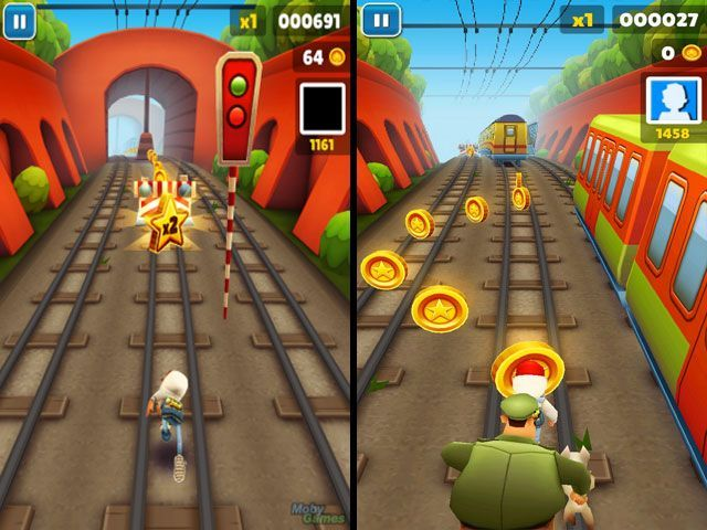 Giao diện của game Subway Surfers